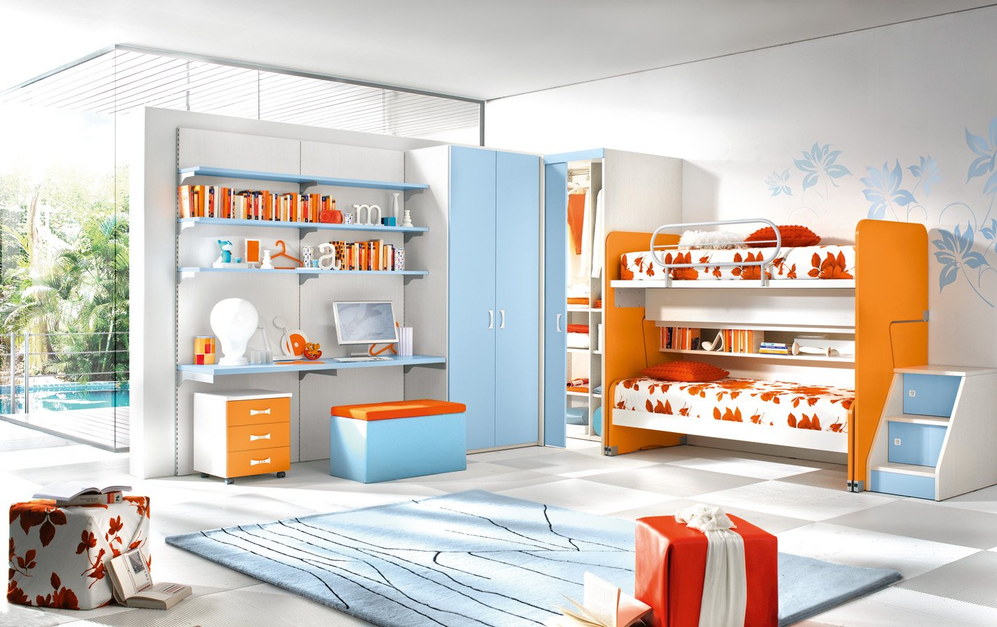 20 contemporary kids room interior design ideas for Modern kids bunk beds