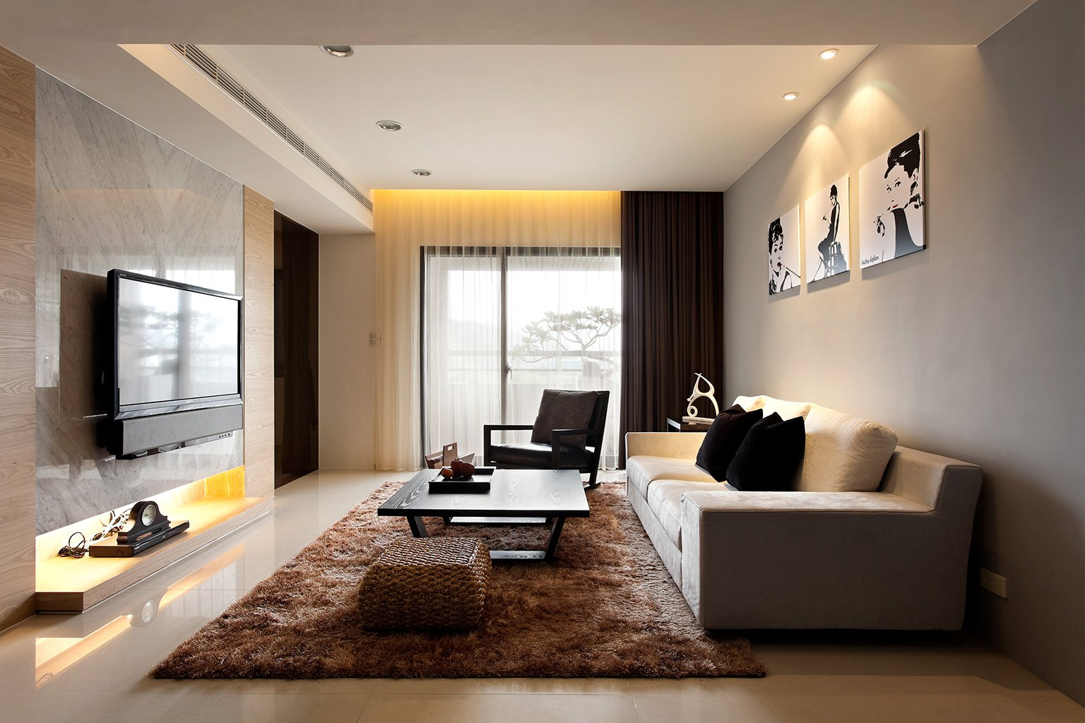 Wonderful Interior Design Ideas Lounge Room Part - 3: Modern-living-room-decor