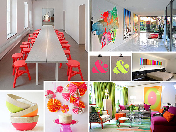 Neon: the Colorful Invasion in Decorating