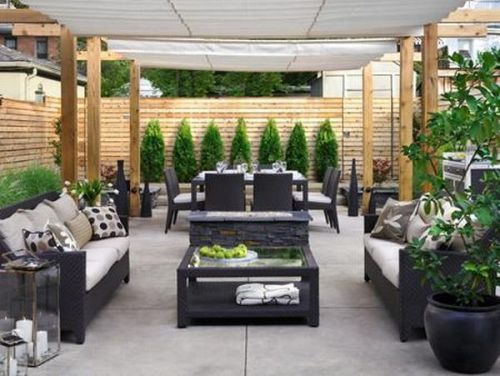 Outdoor Patio Tile Ideas With Sofa