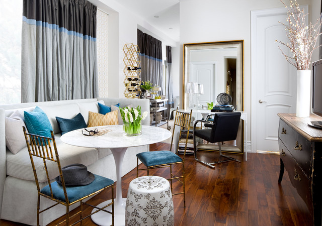 Small Space Residence eclectic-dining-room