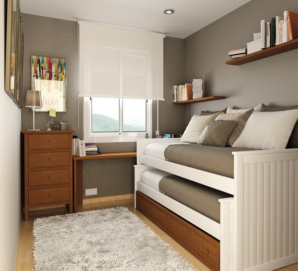 Good Ideas For Small Rooms Part - 12: Small-Space-Sizes-Bedroom-Ideas