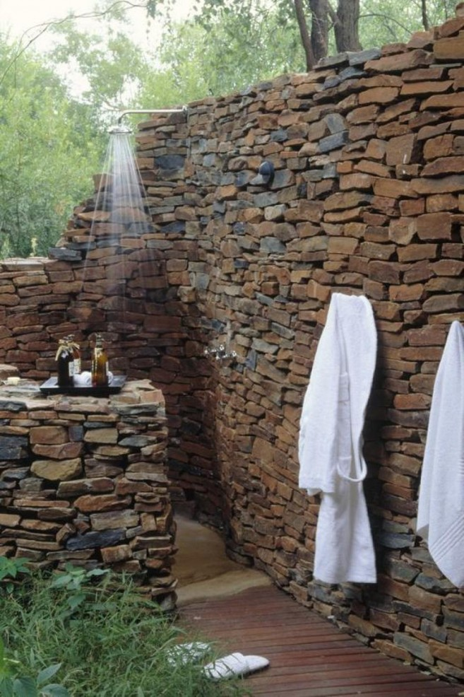 Stoons Wall Traditional Bathroom For Outdoor Bathroom Design