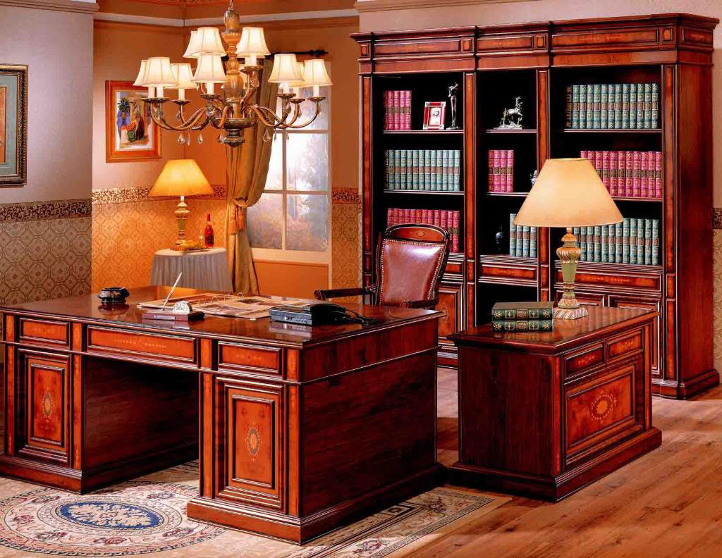Stunning Traditional Home Office Design Ideas With Bookcase