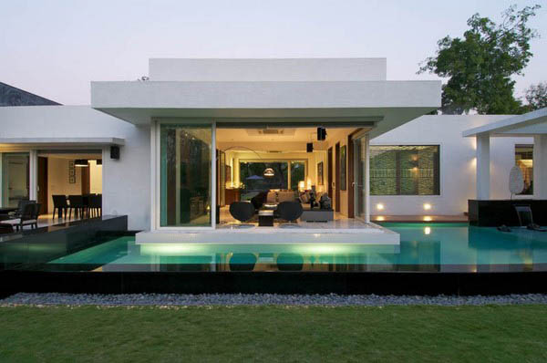 Stylish Modern Home Dinesh Mills Bungalow Suburban House Turned Into Contemporary Style