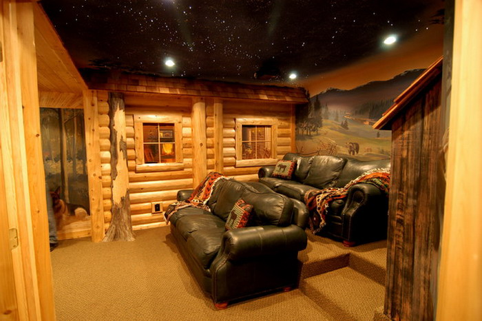 Traditional-Basement-with-Farm-Murals