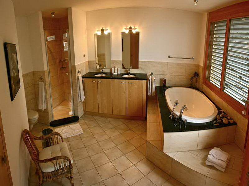 Traditional Bathroom Designs With Wood Frame Window And