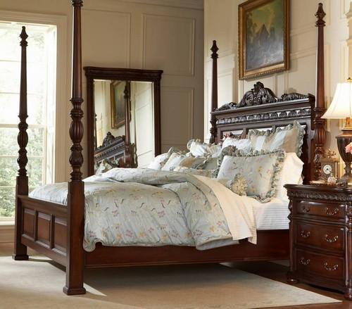 25 stunning traditional bedroom designs 13579 | traditional bedroom style with a poster bed