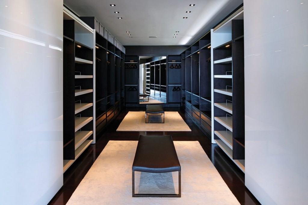Walk In Closet Design With Wardrobe Storage And
