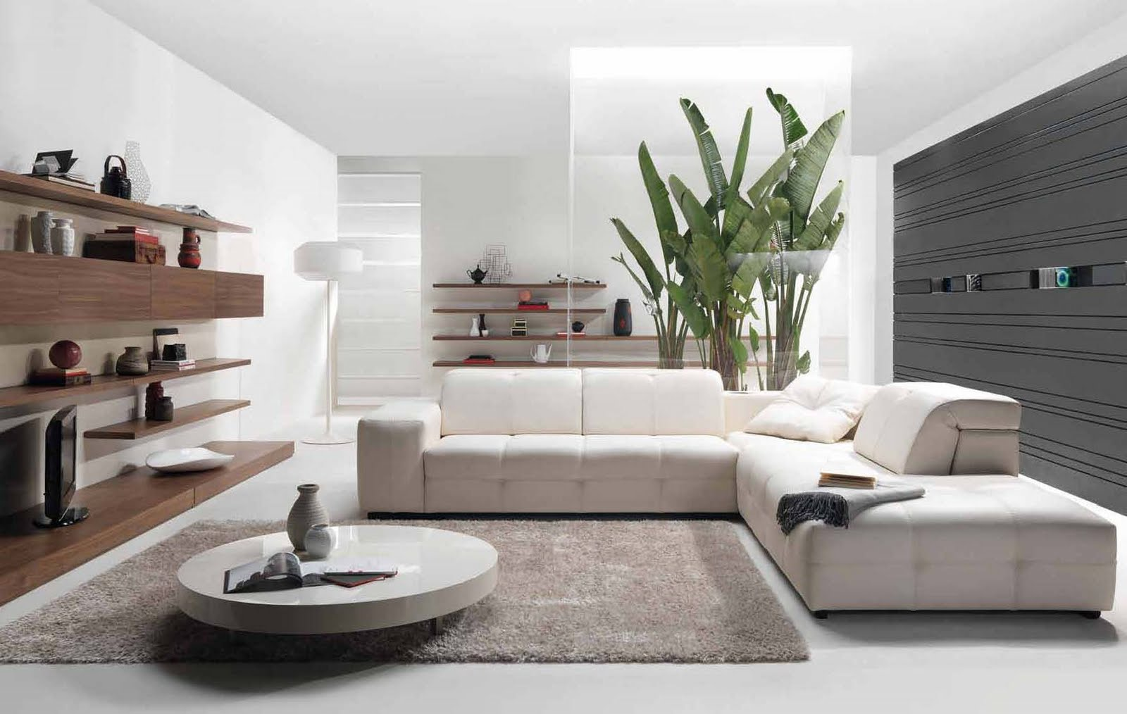 White Living Room Interior Style Modern Kits Furniture