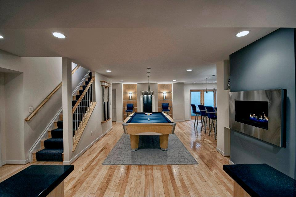 Stunning Contemporary Basement Designs ashburn contemporary basement billiard area 21