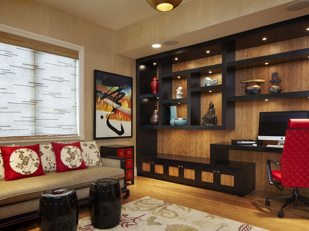 asian-home-office-with-wallpaper
