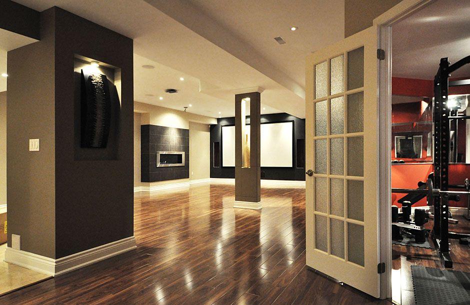 basement modern design 21 Stunning Contemporary Basement Designs