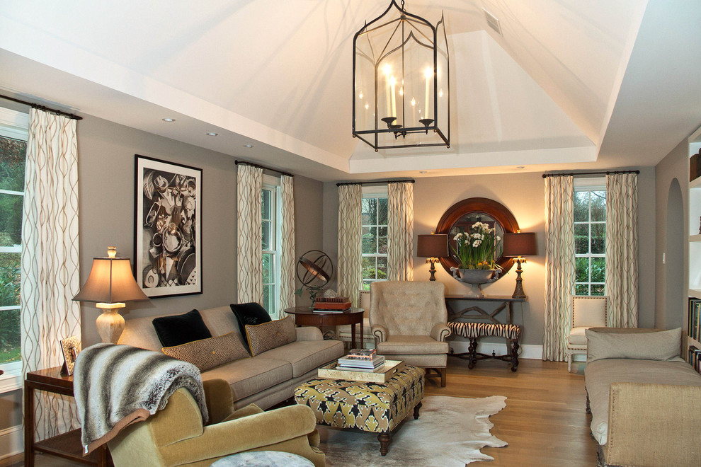 basement-remodeling-ideas-Family-Room-Traditional-with-animal-hyde-arched-doorway