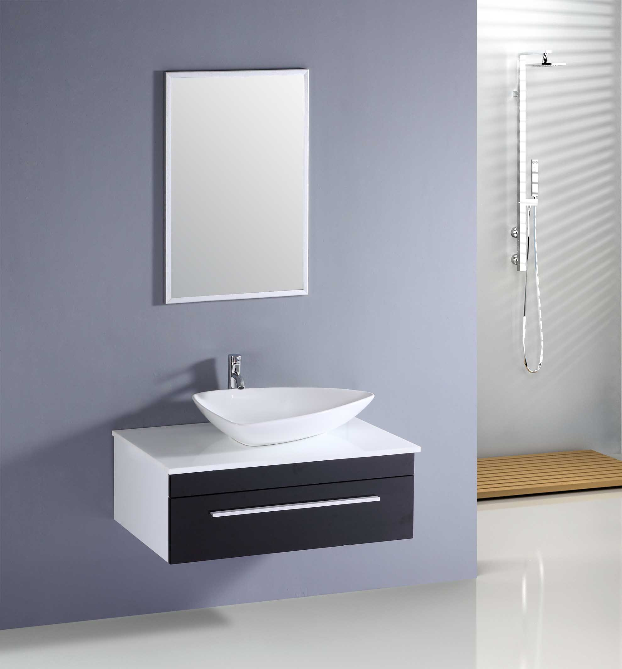 bathroom glossy delightful bathroom decoration cabinet with mirror