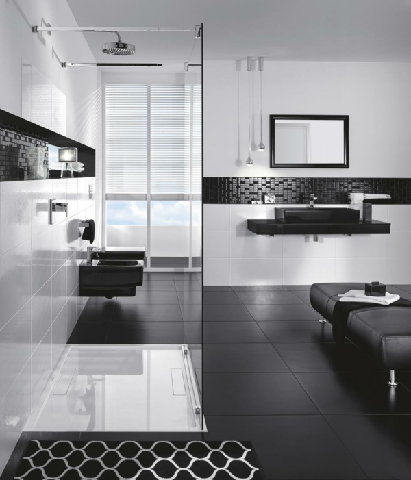Ideas For Black And White Bathroom Part - 32: Black-white-modern-bathroom-design