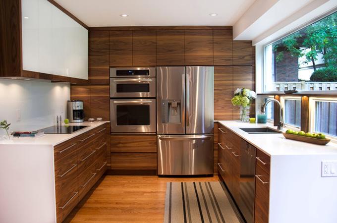 brilliant modern kitchen ideas with wooden design on - Modern Kitchen Ideas