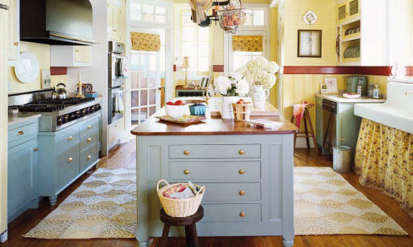 30 cool beach style kitchen designs for Cottage kitchen designs