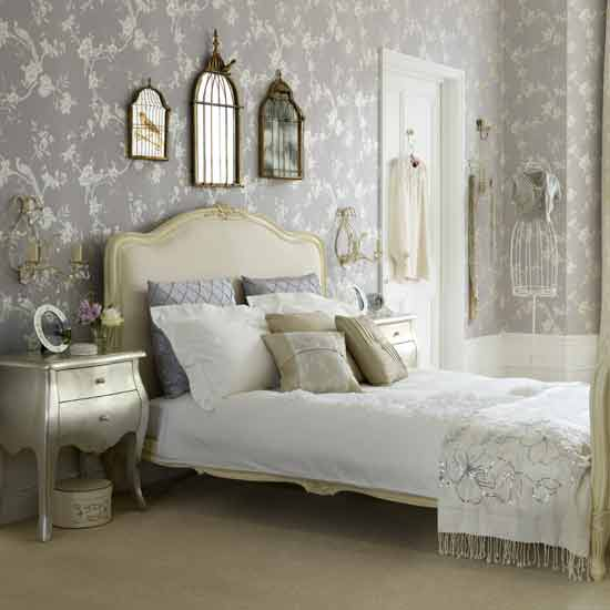 Elegant Shabby Chic Bedroom Retro Interior Design Ideas Floral Bed Sheet Decor