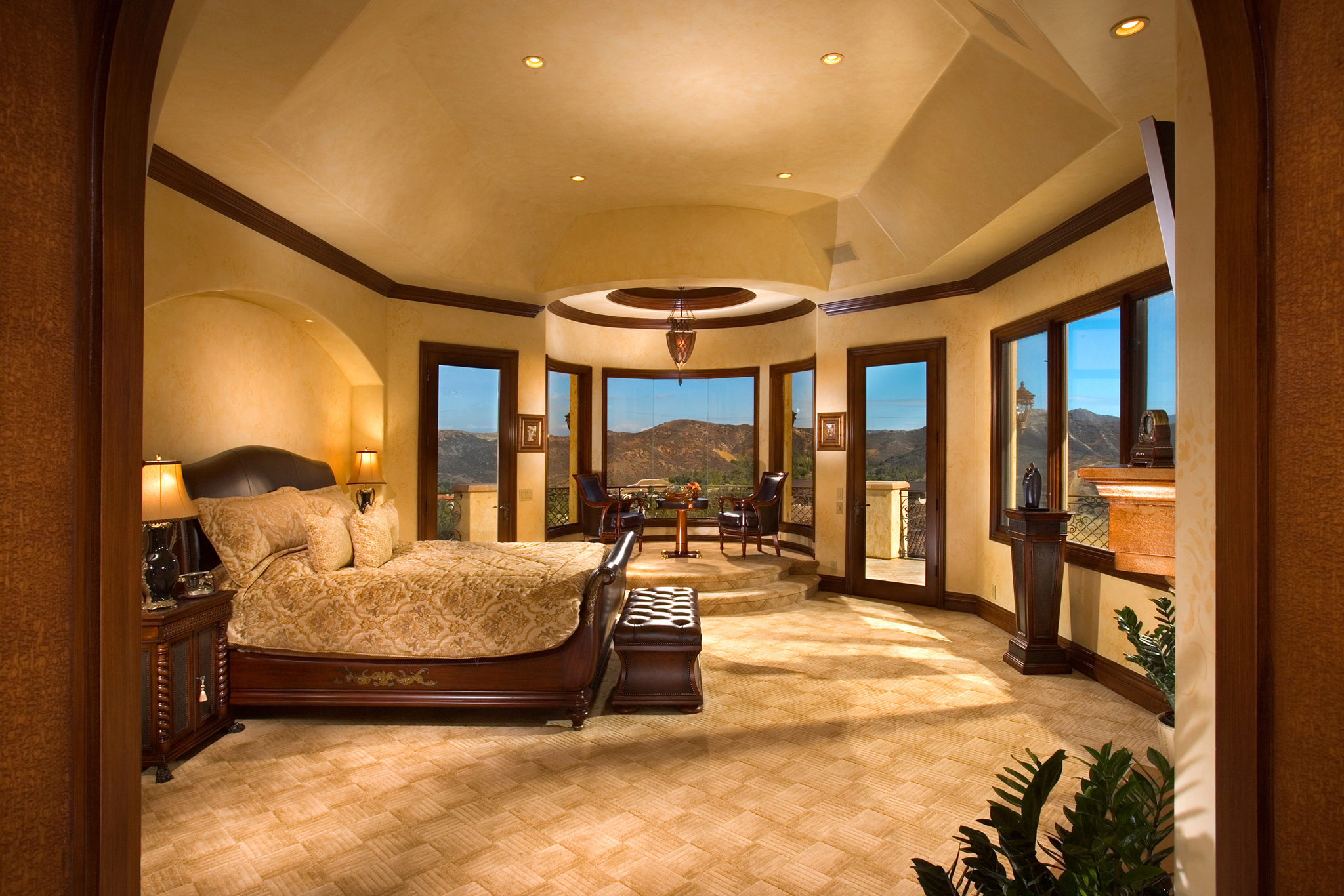 Master bedroom the interior designs for Front room decorating designs
