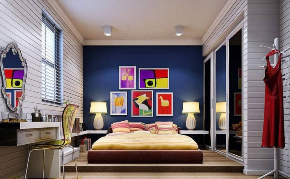 Top 20 colorful bedroom design ideas for Bright bedroom wallpaper