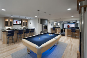 21 Stunning Contemporary Basement Designs