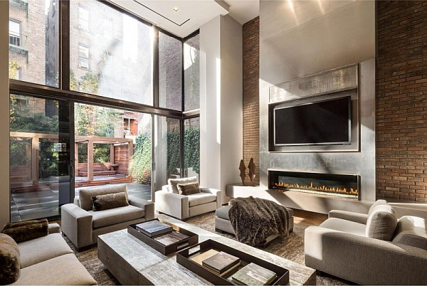 Cozy Modern Living Room With Fireplace Luxury With