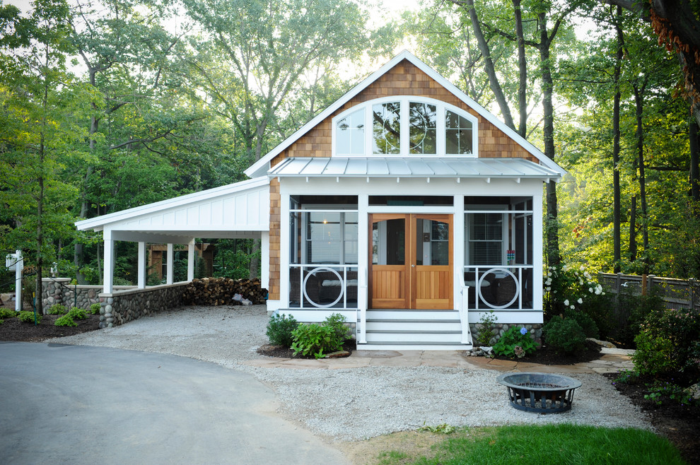 door-county-cottage-rentals-Exterior-Eclectic-with-Car-Port-cedar-shakes