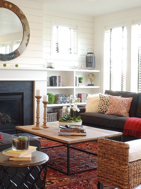 21 stunning eclectic living room designs for Eclectic living room design ideas