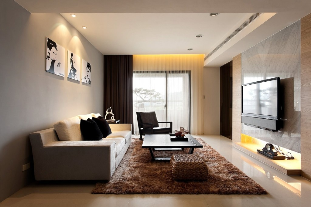 Extraordinary Ultramodern Living Room Curtain