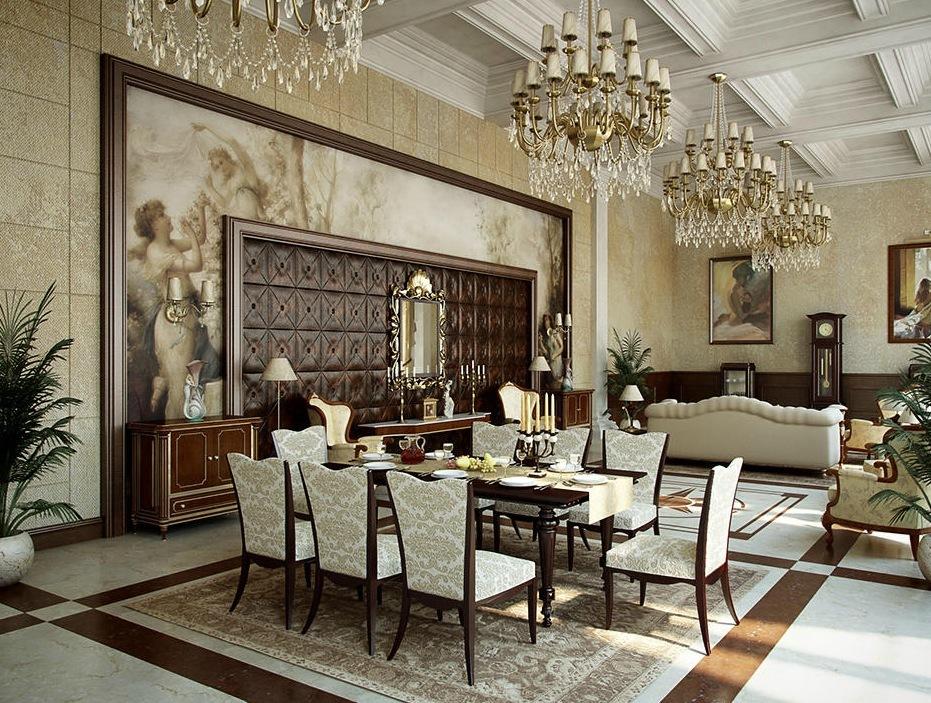 Fine Classic Style For Elegant Dining Room Design