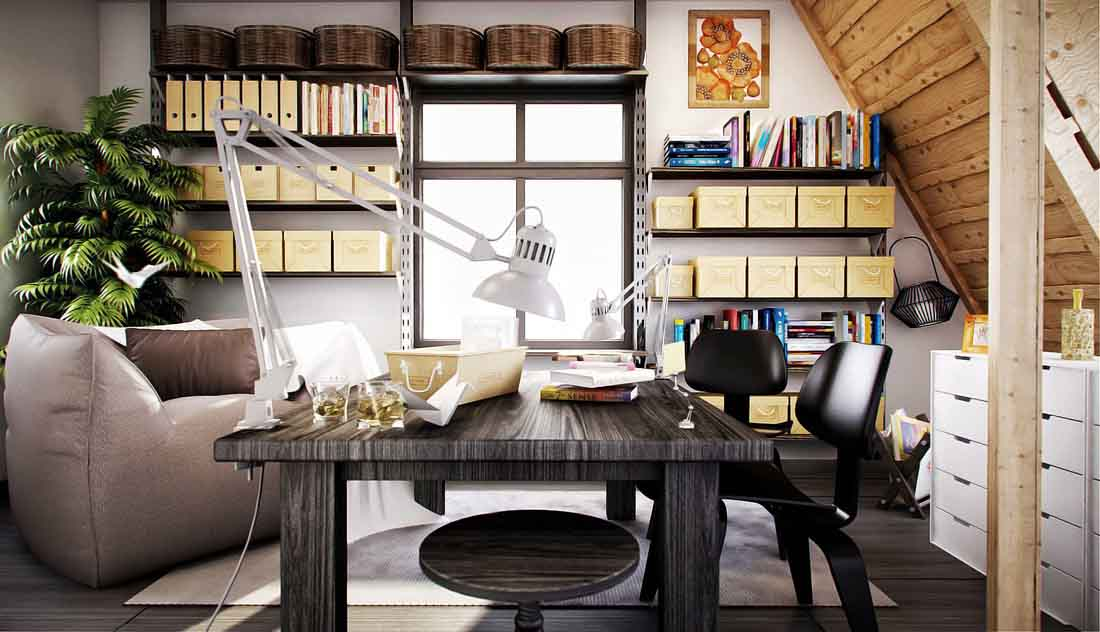 25 creative home office design ideas for Home office design inspiration