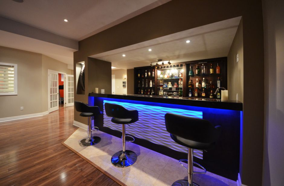 Inspiration Ideas Modern Basement Bar With Bar 15