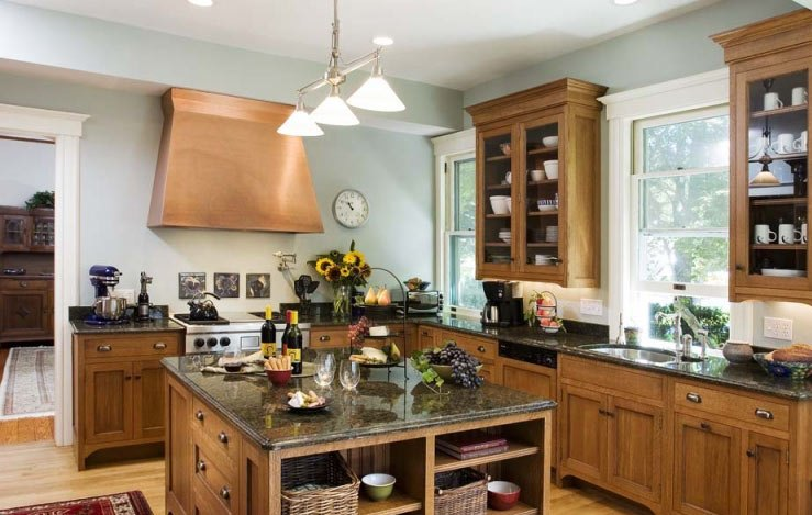 kitchen-cabinets-traditional-light-wood-126-cp014a-craftsman-island-copper-hood