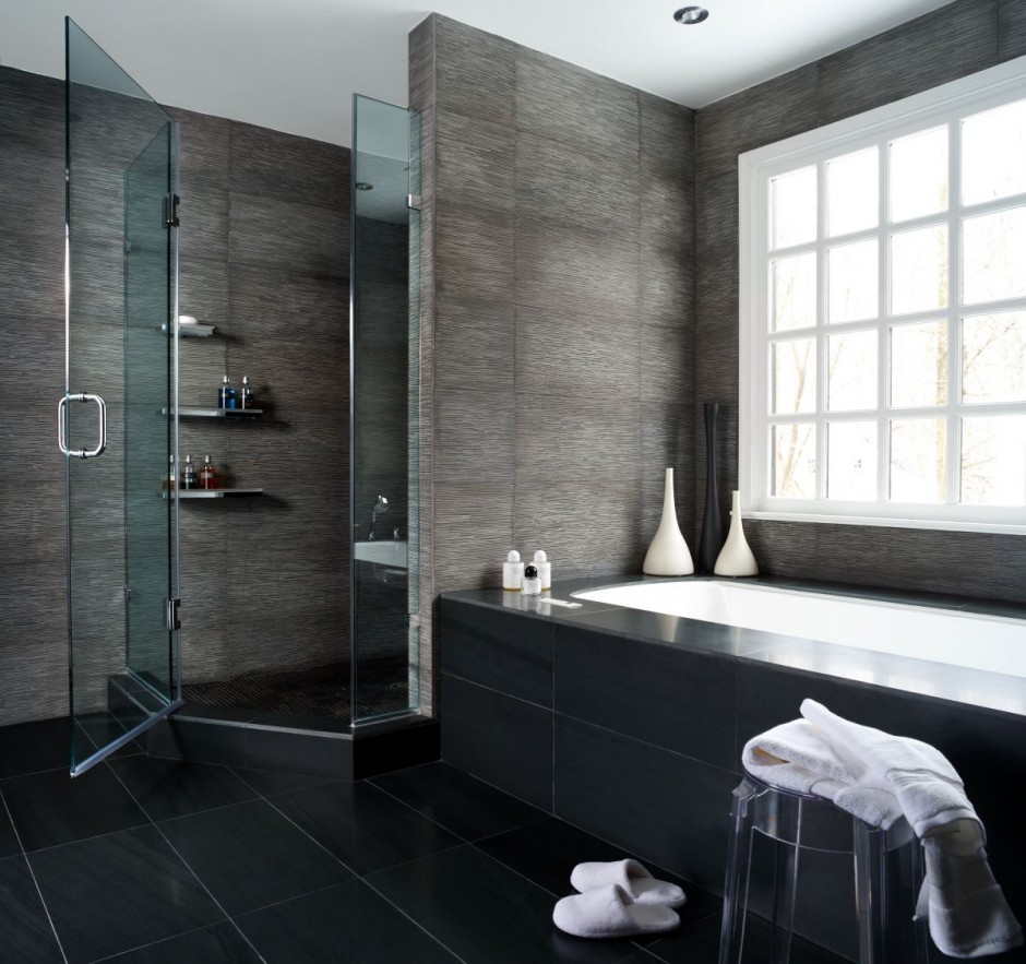 Modern Bathroom Design Black White