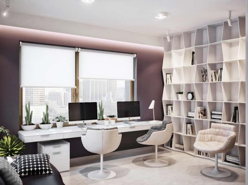 25 stunning modern home office designs for Office design at home
