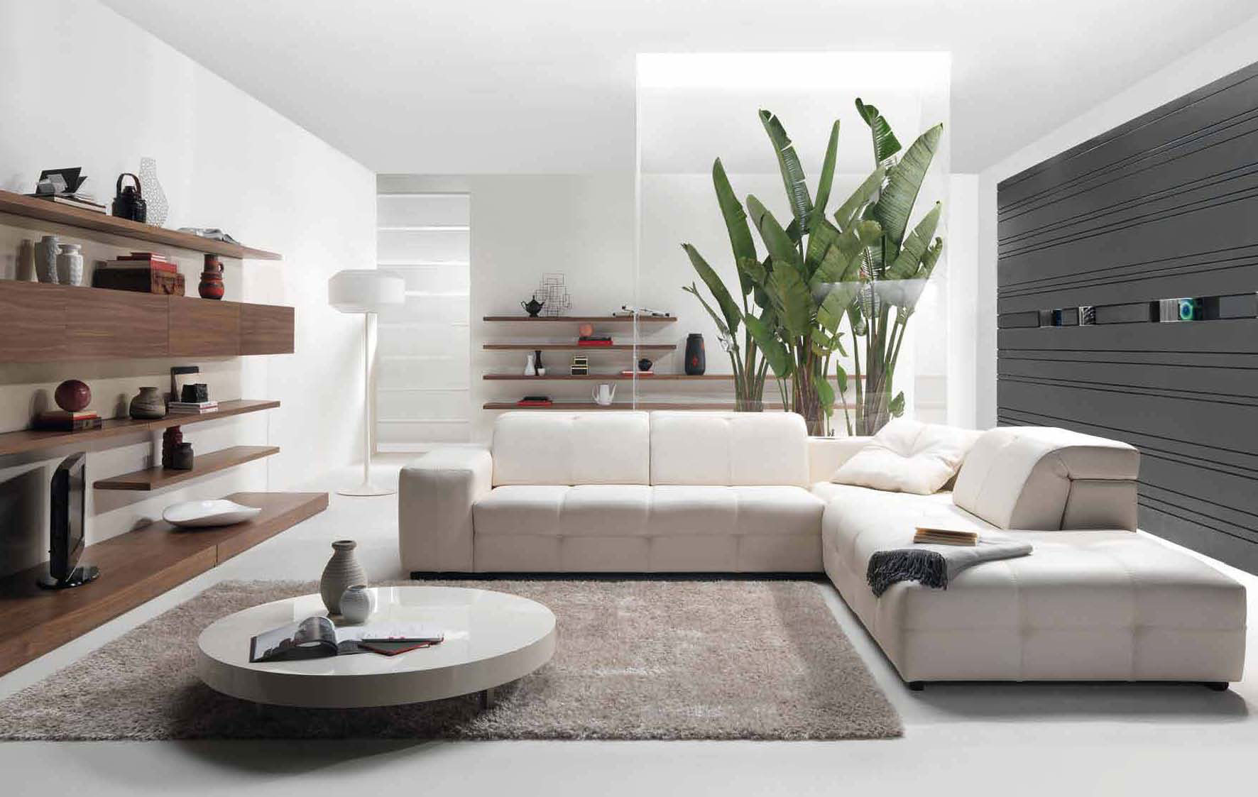 25 best modern living room designs for Pictures of modern living rooms decorated