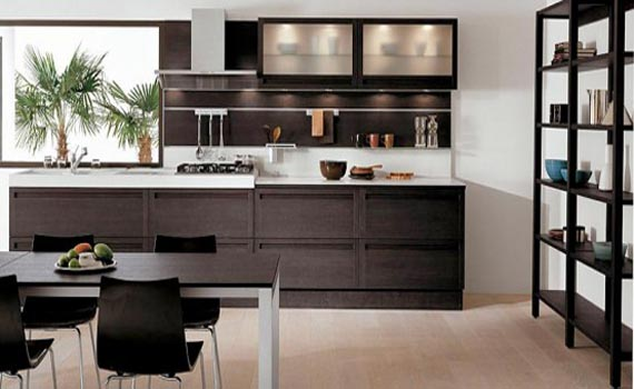 20 cool modern wooden kitchen designs. Black Bedroom Furniture Sets. Home Design Ideas
