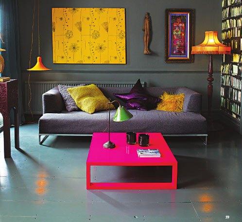neon brights from british vogue