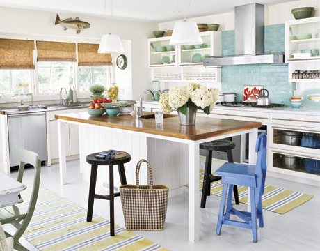 Nice Beach Cottage Kitchen Design