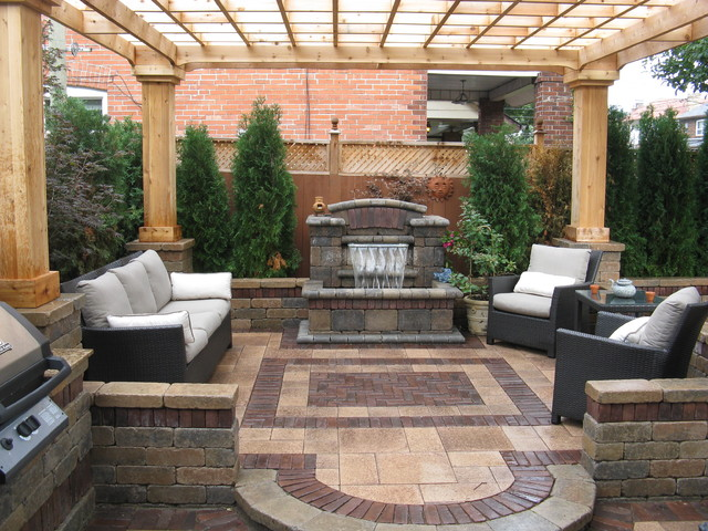 outdoor-living-room-design-ideas-decorating-with-waterfall-with-wooden-ceiling-ideas