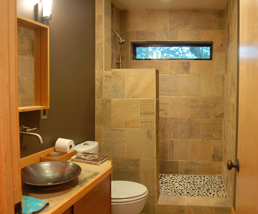 25 bathroom ideas for small spaces for Beautiful bathroom designs for small spaces