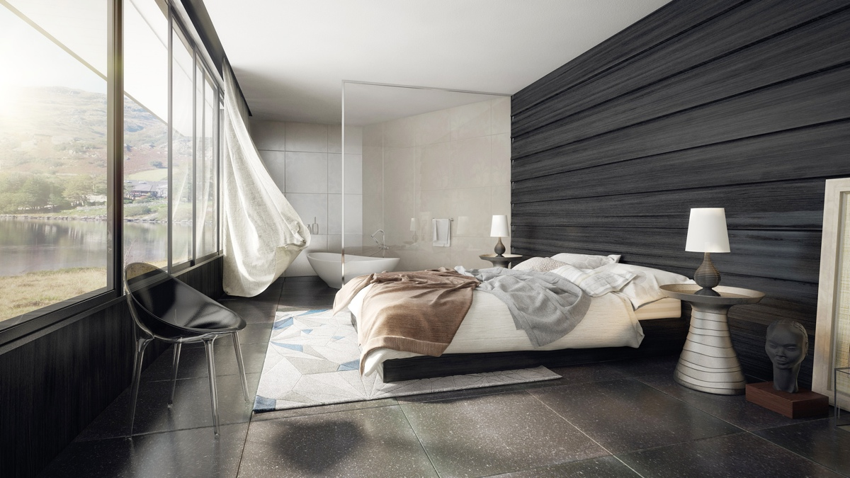 Spacious Modern Bedroom