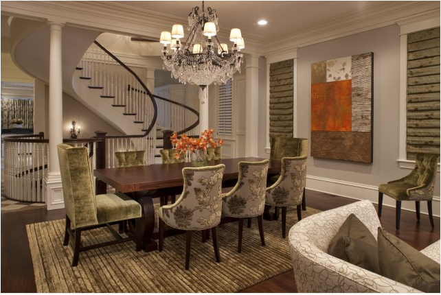 25 awesome traditional dining design ideas for Traditional dining room art