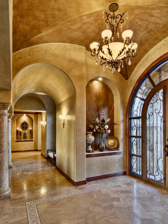 traditional-entry-with-luxury-italian-interior-design-also-luxury-chandelier-design-also-beige-marble-floor-and-luxury-arch-door-and-windows-style