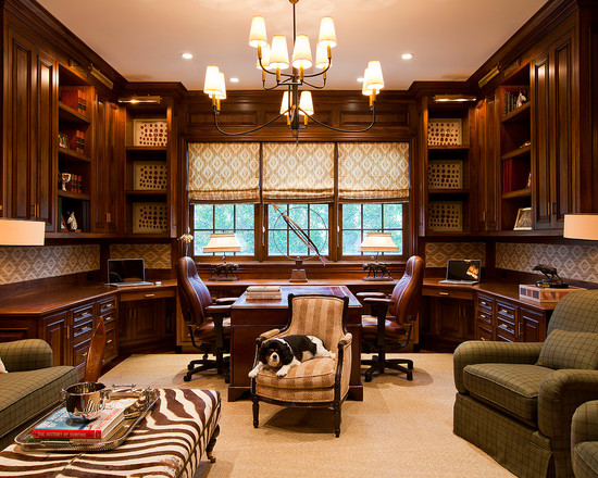 30 best traditional home office design ideas for Home office interior design ideas