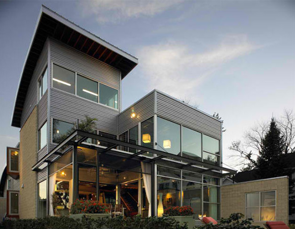 20 stunning industrial exterior design for Industrial farmhouse exterior