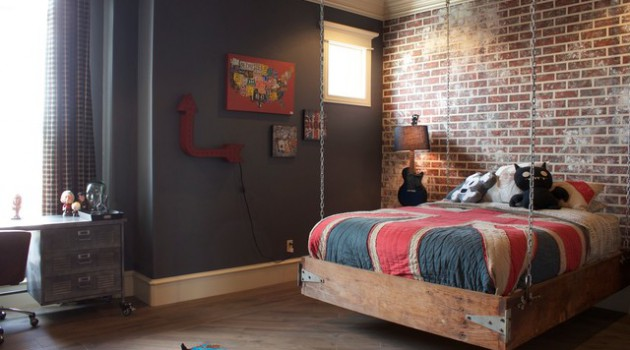 16 Appealing Industrial Kids Room Designs Your Kids