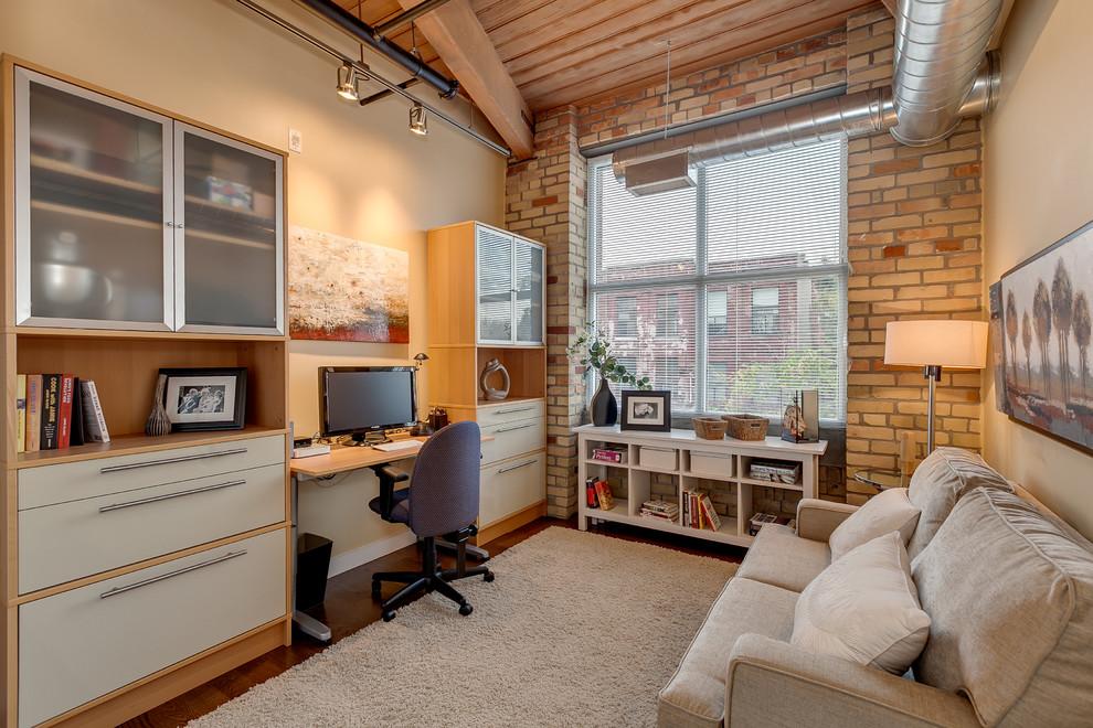 25 amazing industrial home office design. Black Bedroom Furniture Sets. Home Design Ideas