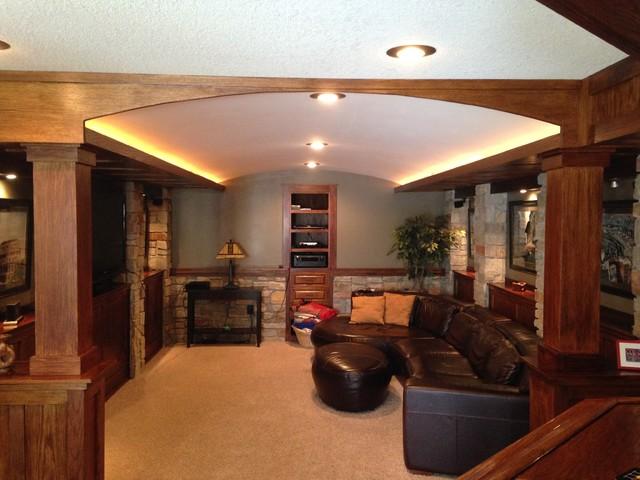 Basement Design craftsman-basement